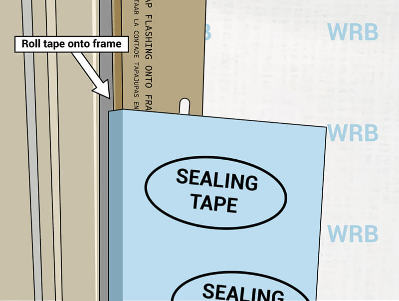 Roll flashing tape illustration