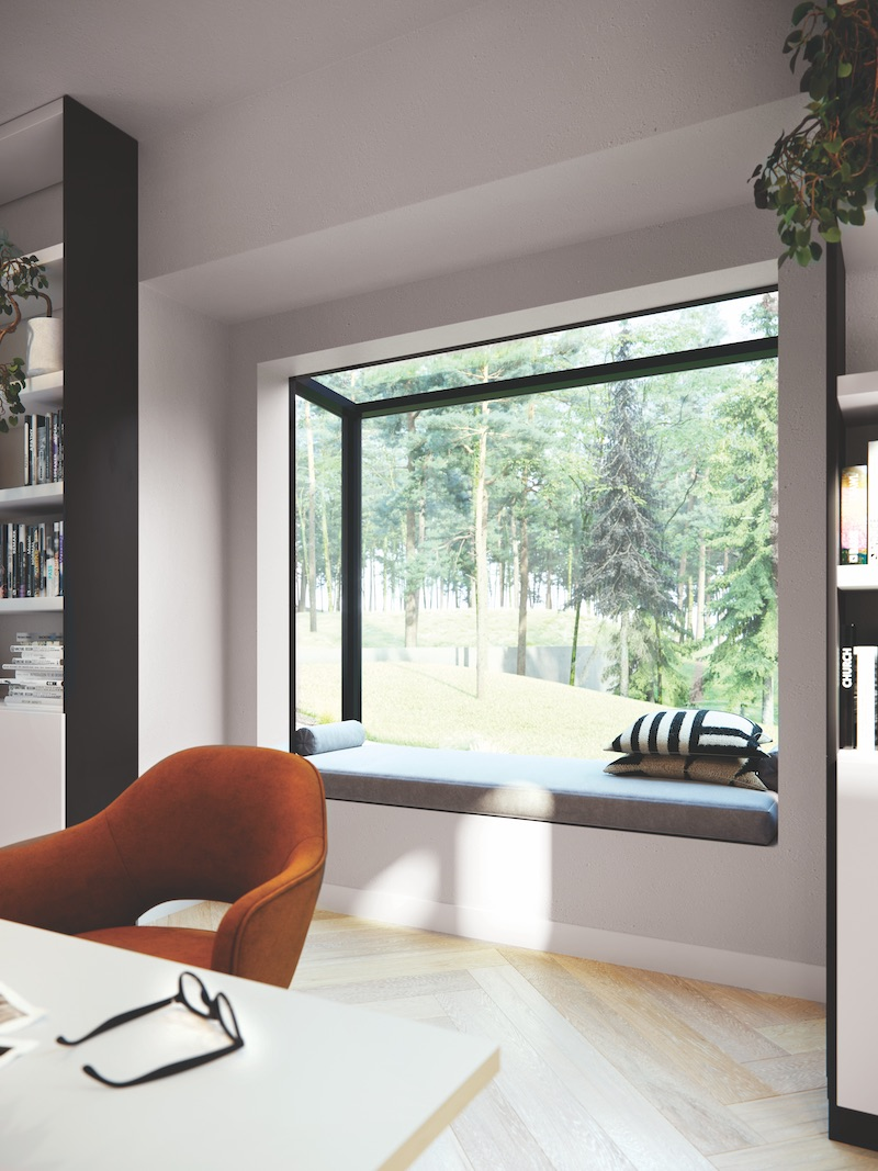 The Marvin Skycove, a glass nook that extends the square footage in any room.