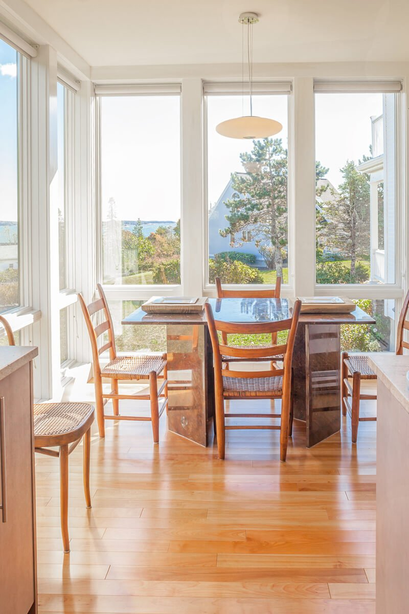 Dining area of home with Marvin Windows and Doors