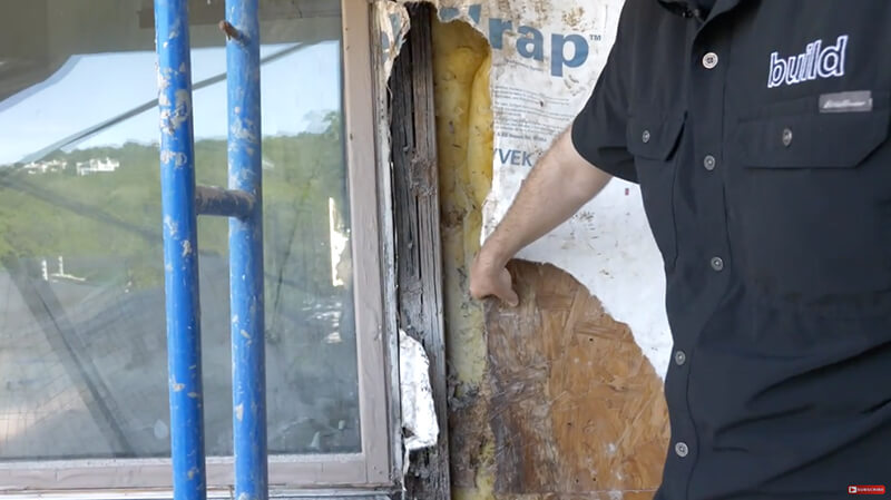 Image of rotting Window prior to replacement with Matt Risinger