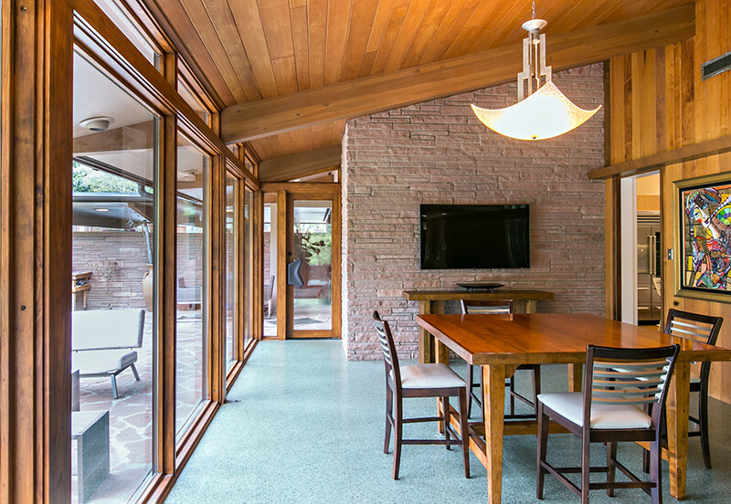 Large dining room with Marvin Windows and Doors