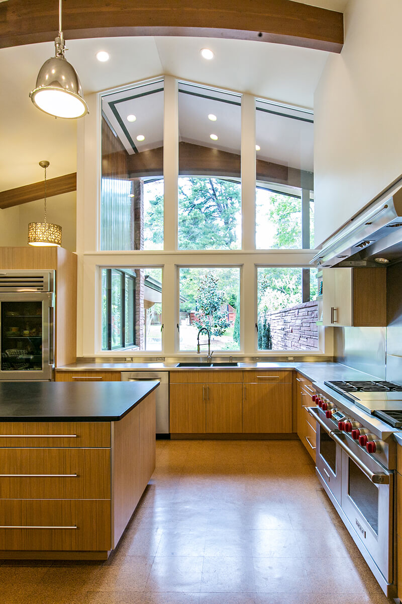 Interior of kitchen in Modern style home with Marvin Windows and Doors