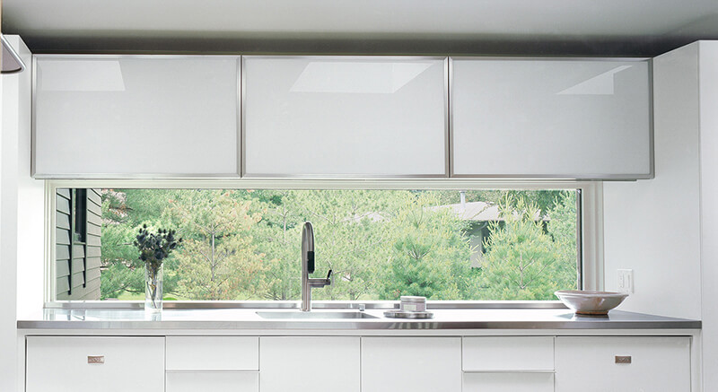 Large Marvin Window in modern style kitchen
