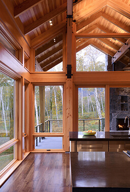 House in the Vermont Mountains with Marvin Windows and Doors