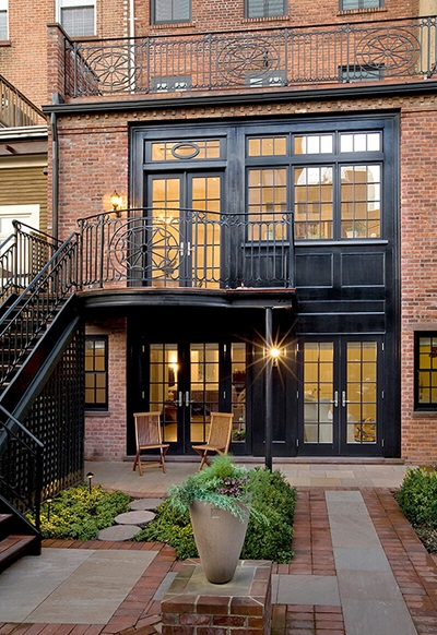 Traditional Brownstone Remodel with multiple Marvin Windows and Doors