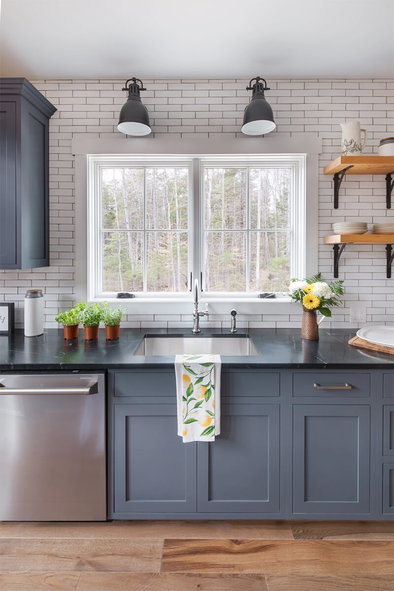 Farmhouse kitchen with Marvin Window