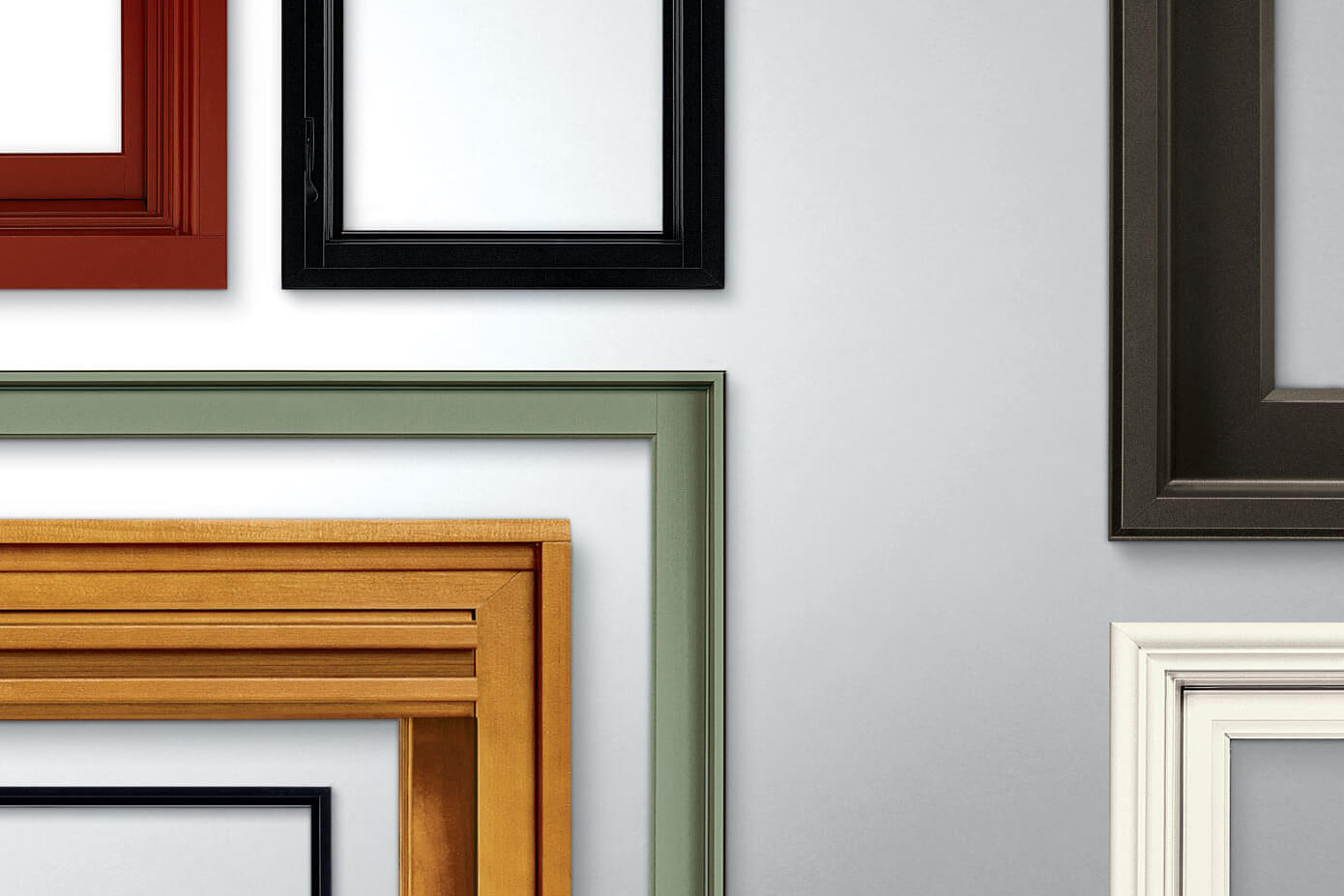 Collection of Marvin Window frames