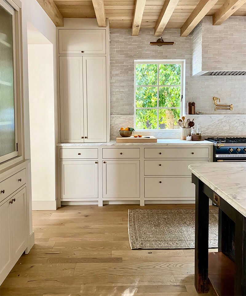 Kitchen at Amber Lewis's Belgian Farmhouse