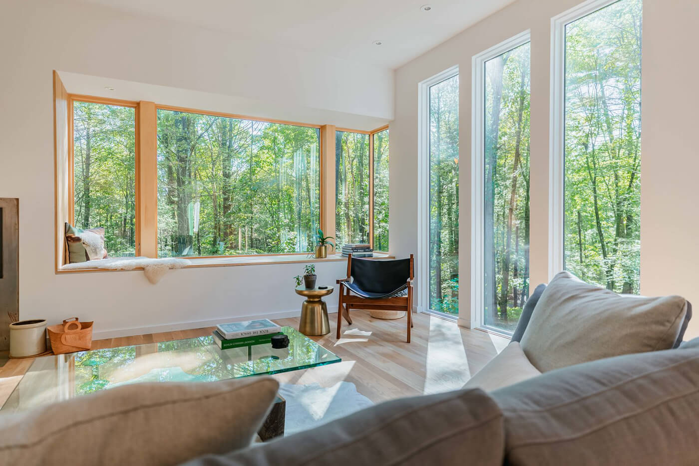 Living room of Hillside home with Marvin Windows and Doors