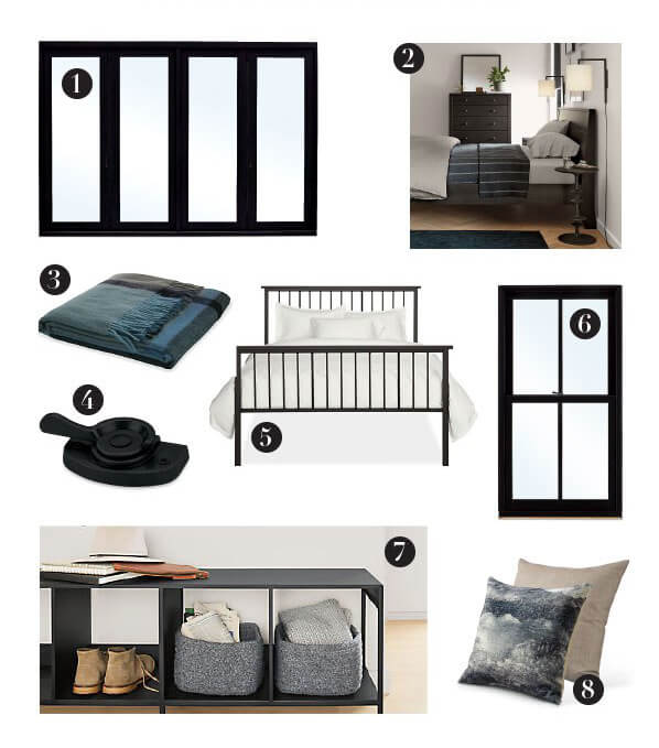 Marvin and Room&Board Home Furnishings Designer Black 3 Room Combinations
