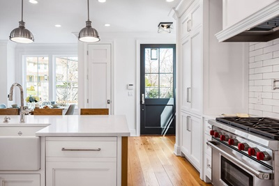 Kate Gelfand Designed Kitchen with Marvin Windows and Doors