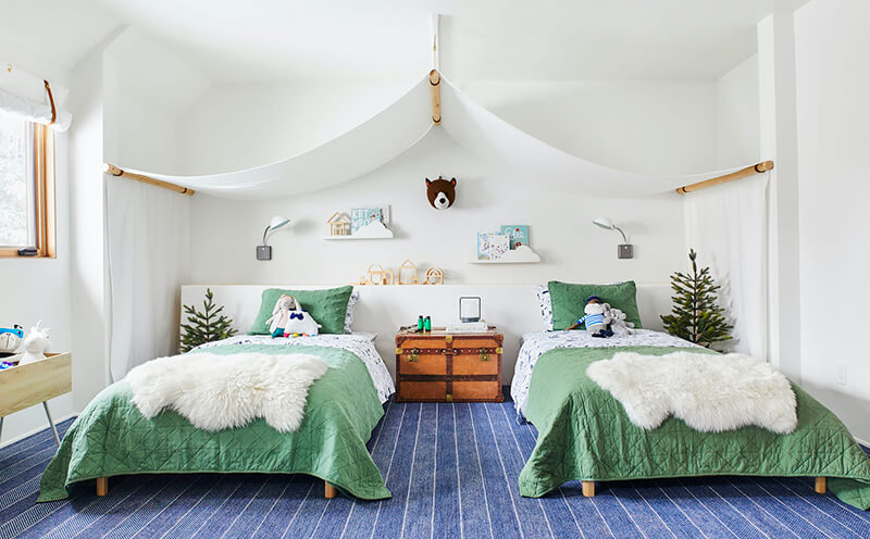 Emily Henderson's Kids Room at her Mountain Home