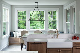 Large kitchen with multiple Marvin Windows