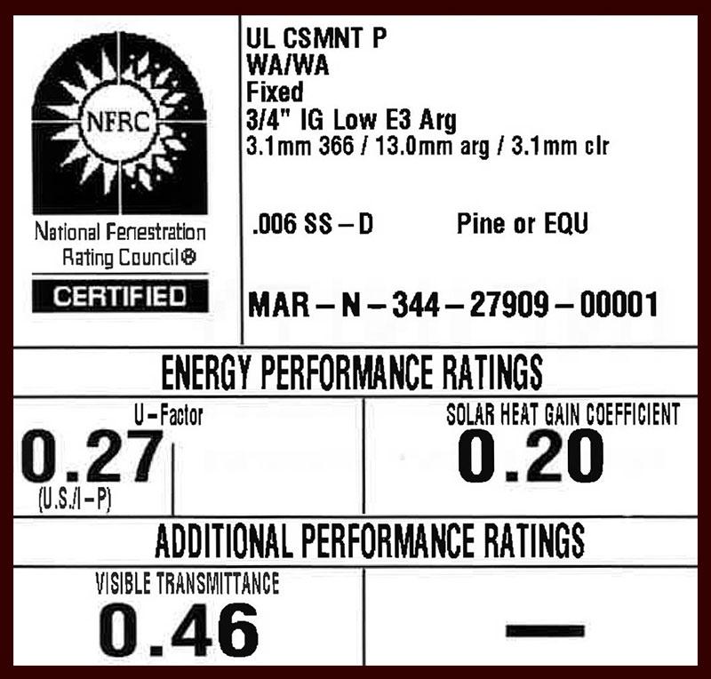 Window energy rating label
