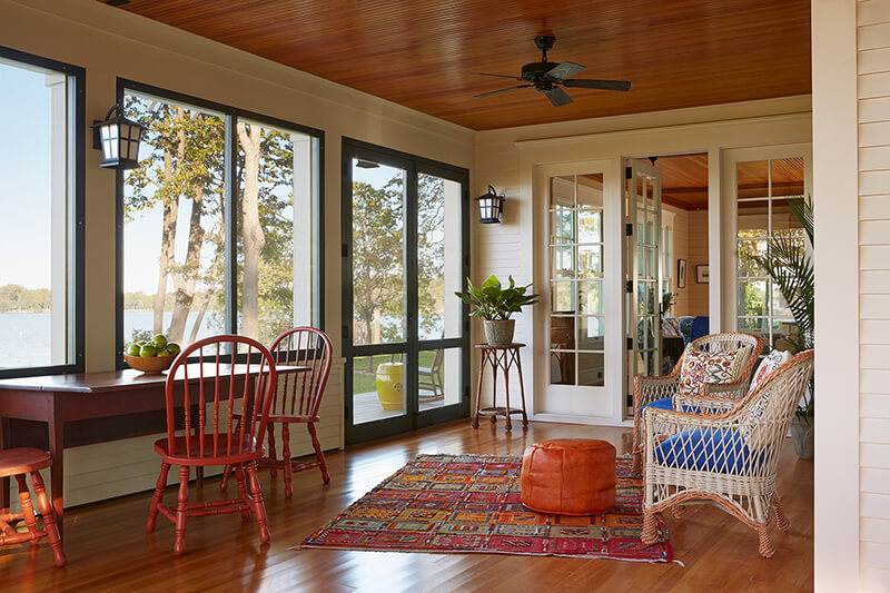 Porch with Marvin Windows and Doors