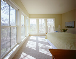 Large bedroom with Marvin Windows