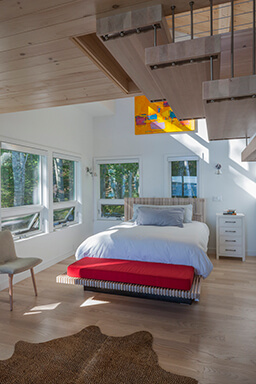 Bedroom with Marvin Windows