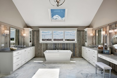 Large bathroom with Marvin Windows