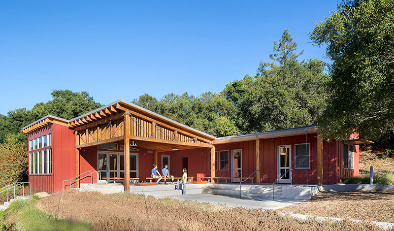 Exterior of Mcclellan Preserve Environmental Education Center with Marvin Windows and Doors