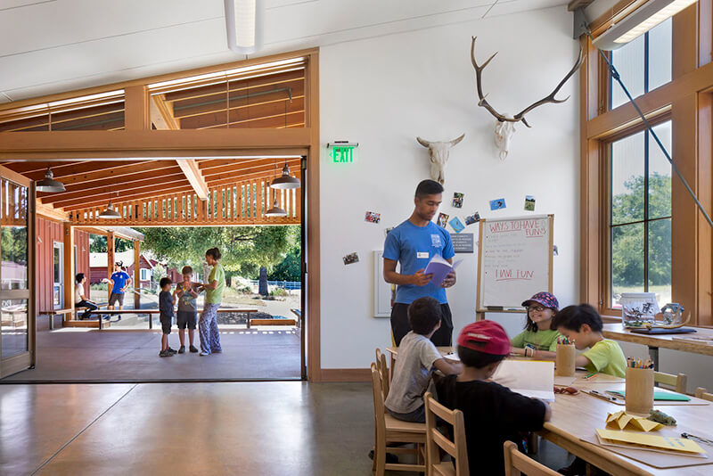 Interior of Mcclellan Preserve Environmental Education Center with Marvin Windows and Doors