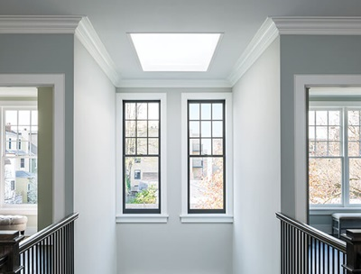 Room with multiple Marvin windows