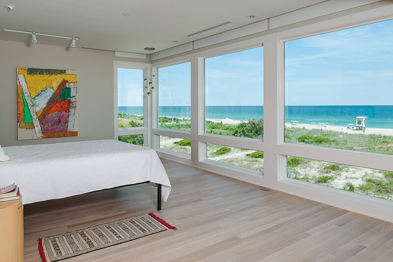 Beach home bedroom with Marvin Windows