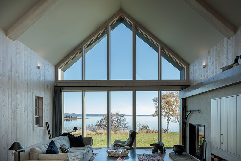 Living room with Marvin Windows and Doors