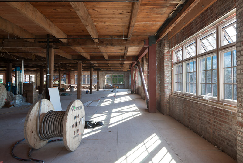 Large open studio space with multiple Marvin Windows