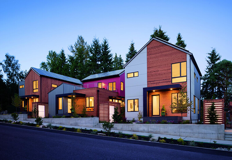 Modern style home with Integrity Windows and Doors