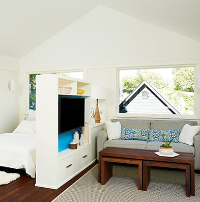 Small living area with Marvin Windows