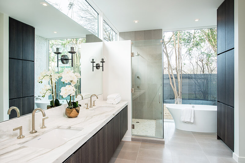 Modern style bathroom with Marvin Windows