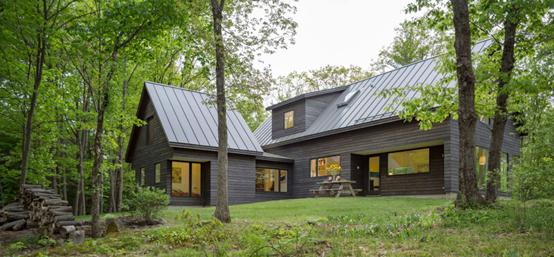 House in the woods with Marvin Windows