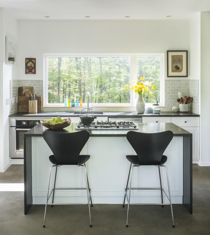 Open concept kitchen with Marvin Windows