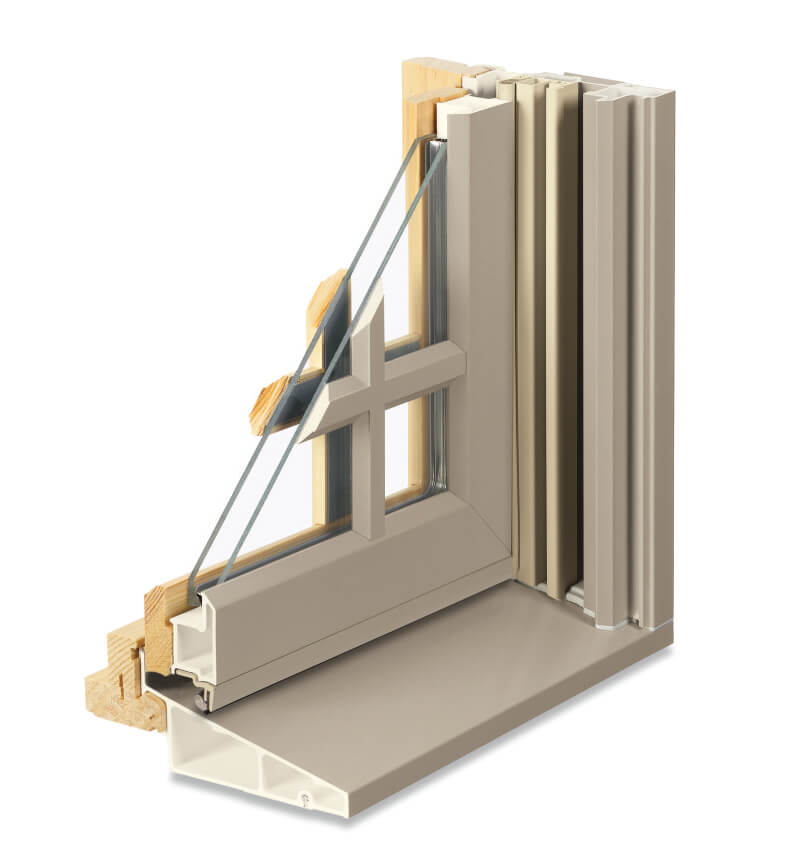 Cutaway of Integrity Window with Divided Lite