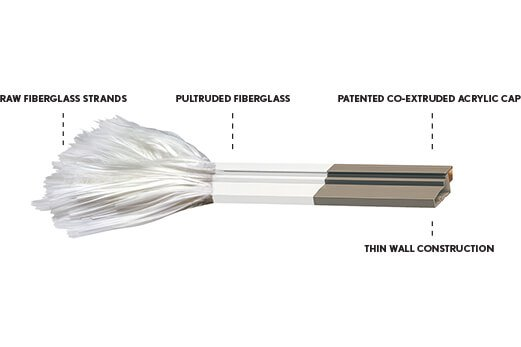 Illustration of Thermoset fiberglass composite for windows and doors