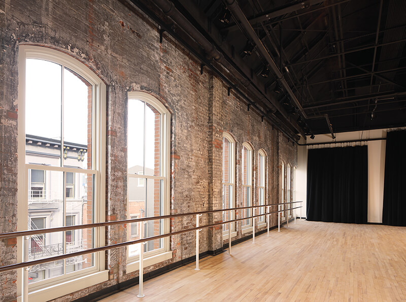 Inside a historic building featuring Marvin Signature Ultimate windows.