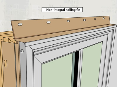 Rendering of Non Integral Nailing Fin on Marvin Window