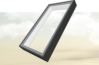Exterior shot of Marvin Awaken Skylight with sky background