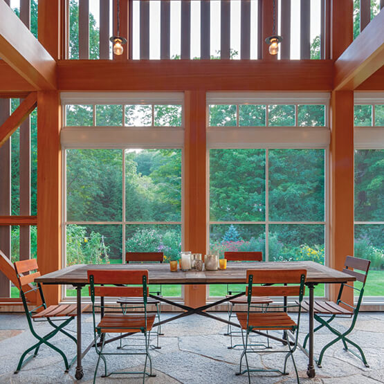 Screen porch with Marvin Windows and Doors