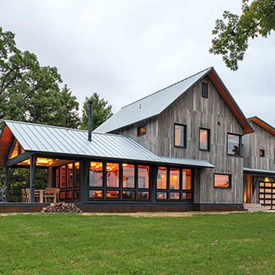 Modern style farmhouse with Marvin Windows and Doors