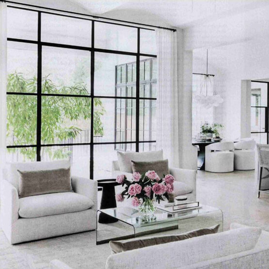 Large Marvin Window in living room of home