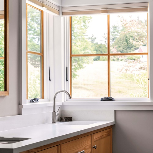 Bathroom with Marvin Elevate Awning Windows