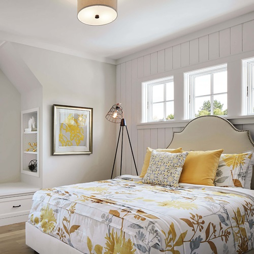 Bright Bedroom with Marvin Elevate Awning Windows