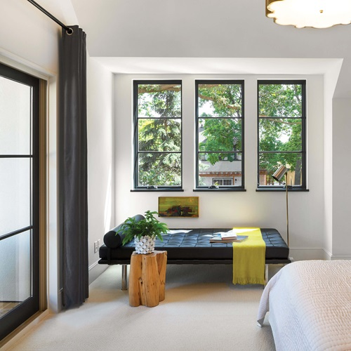 Bedroom With Marvin Elevate Casement Windows
