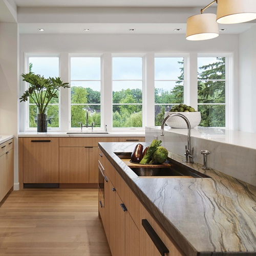 Modern Kitchen With Marvin Elevate Casement Windows