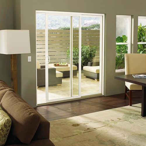 View Of Patio Through A Marvin Essential Sliding Patio Door