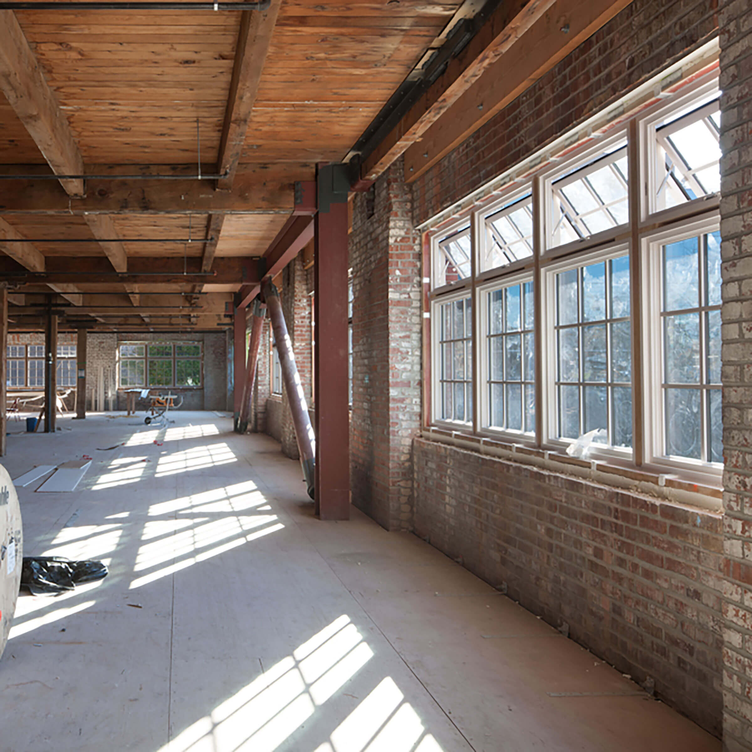 Interior View Of Union Stables With Marvin Windows