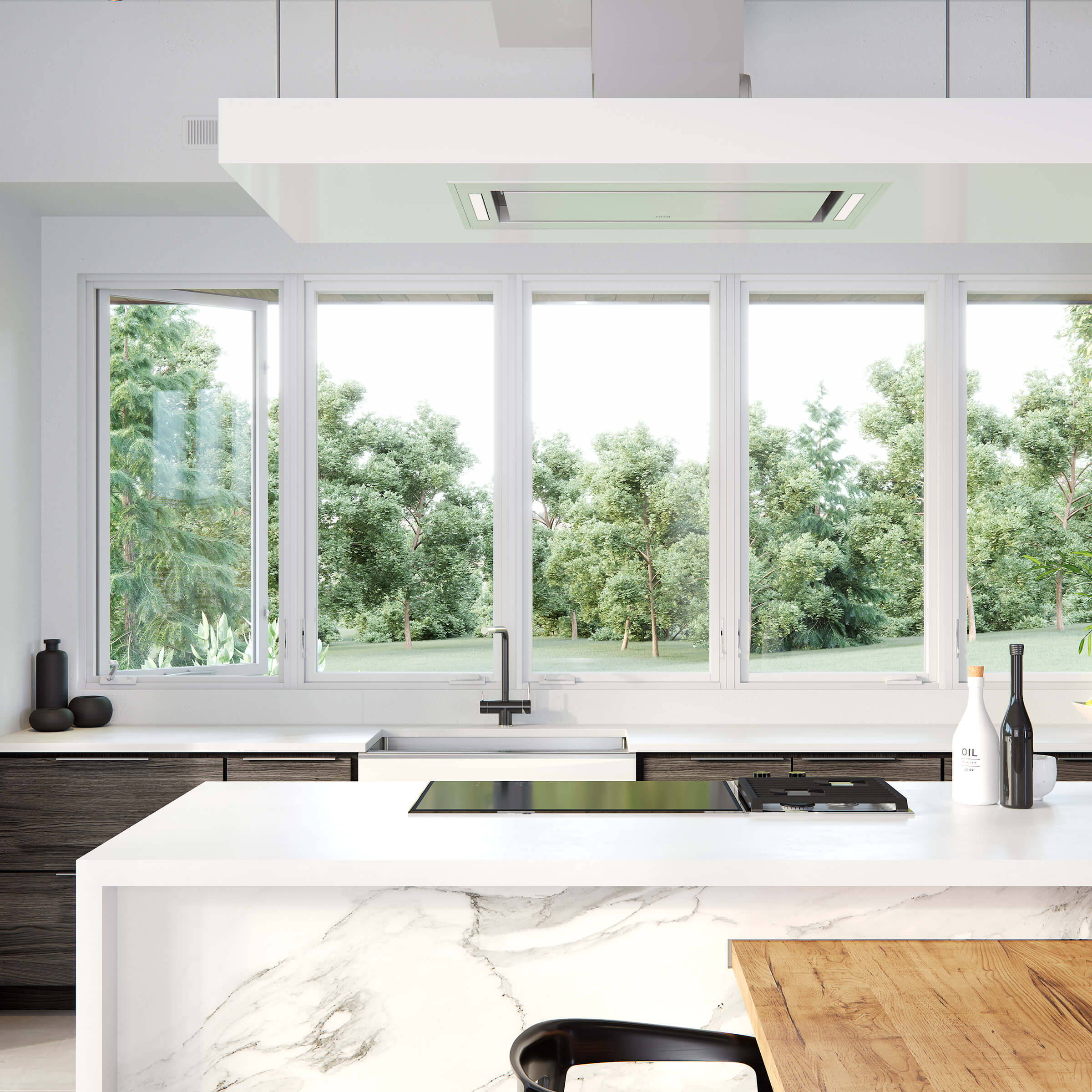 Modern Kitchen With Signature Modern Casement Windows