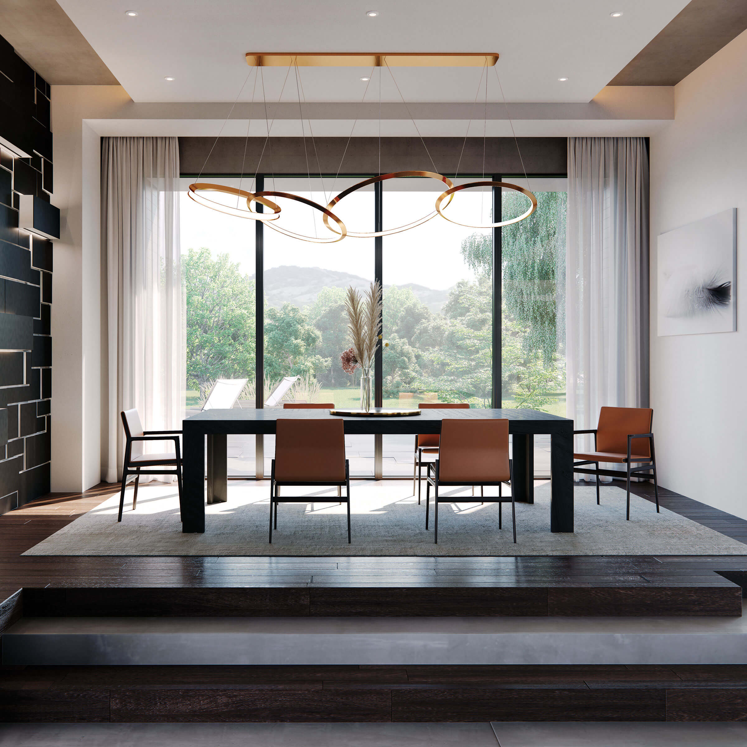 Modern Dining Room With Signature Modern Picture Windows