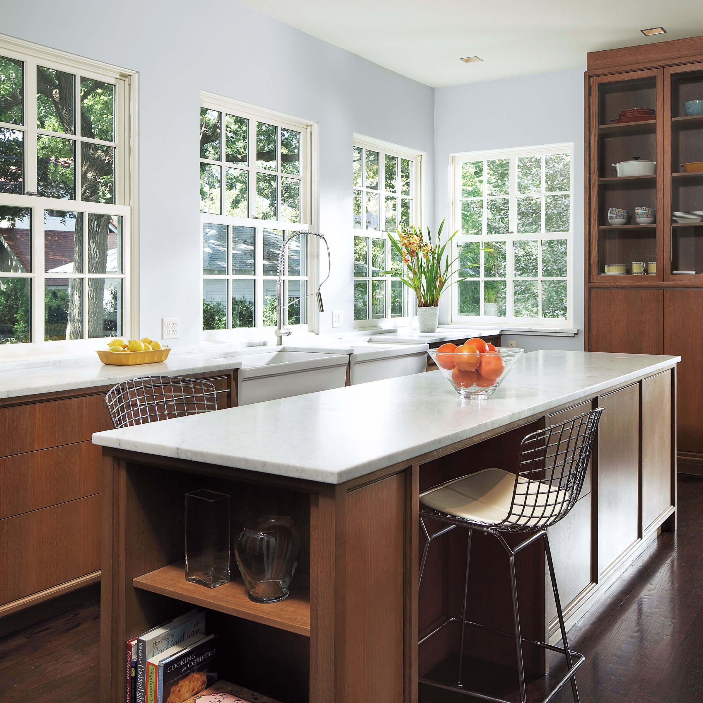 Kitchen With Ultimate Wood Single Hung Windows